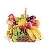 Fruit Basket w/ Crackers and Cheese